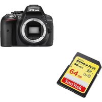 NIKON D5300 DSLR Camera & 64 GB Memory Card Bundle