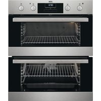 AEG SurroundCook DUB331110M Electric Built-under Double Oven - Stainless Steel, Stainless Steel