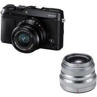 Fujifilm X-e3 Mirrorless Camera, Xf 23 Mm F/2 R Wr Lens & Fujinon Xf 35 Mm F/2 R Wr Standard Prime Lens Bundle