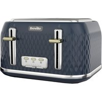 Click to view product details and reviews for Breville Curve Vtt965 4 Slice Toaster Gold Navy Blue Gold.