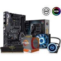 PC SPECIALIST AMD Ryzen 9 Processor, TUF Gaming Motherboard, 16 GB RAM & FrostFlow Liquid Cooler Components Bundle