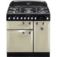 RANGEMASTER Elan 90 Dual Fuel Range Cooker - Cream & Chrome, Cream