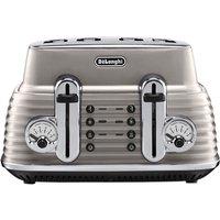 'Delonghi Scultura Ctz4003bg 4-slice Toaster - Champagne