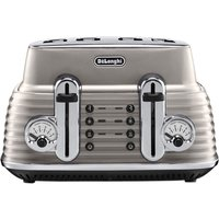 Buy DELONGHI Scultura CTZ4003BG 4-Slice Toaster - Champagne, Brown - Currys PC World