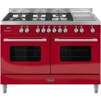 BRITANNIA Delphi 120 Dual Fuel Range Cooker - Gloss Red, Red