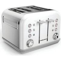 MORPHY RICHARDS Accents 242032 4-Slice Toaster - White, White
