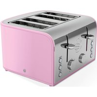 Buy SWAN Retro ST17010PN 4-Slice Toaster - Pink, Pink - Currys