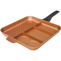 High Street Tv Quadrapan Essential 4-in-1 32 Cm Non-stick Frying Pan - Copper, Salmon