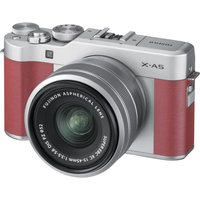 FUJIFILM X-A5 Mirrorless Camera with FUJINON XC 15-45 mm f/3.5-5.6 OIS PZ Lens - Pink, Pink sale image