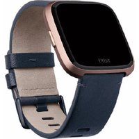 Fitbit Versa Leather Band - Blue, Small, Blue