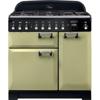 Rangemaster Elan Deluxe ELA90DFFOG 90 cm Dual Fuel Ranger Cooker - Green and Chrome, Green