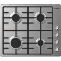HOOVER HHW6LCX Gas Hob - Silver, Silver