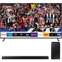"Samsung QE82Q950RBTXXU 82"" Smart 8K HDR QLED TV with Bixby & HW-R550 2.1 Wireless Sound Bar Bundle, Red"