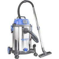 HYUNDAI HYVI3014 Cylinder Wet & Dry Vacuum Cleaner - Silver & Blue, Silver