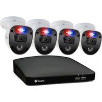 SWANN Enforcer SWDVK-84680SD4SL-EU 8-Channel Full HD 1080p DVR Security System - 32 GB microSD, 4 Cameras, Blue