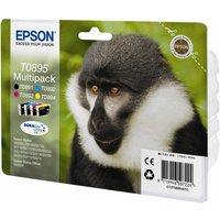 Epson Monkey T0895 Cyan, Magenta, Yellow & Black Ink Cartridges - Multipack, Cyan