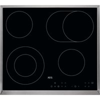 AEG HK634060XB Electric Ceramic Hob - Black, Black