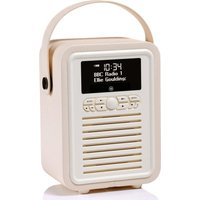 Viewquest Retro Mini VQ-MINI-CR Portable Bluetooth DAB Radio - Cream, Cream