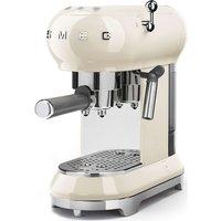 SMEG ECF01CRUK Coffee Machine - Cream