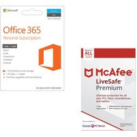 MICROSOFT Office 365 Personal & LiveSafe Unlimited Bundle