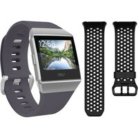 FITBIT Blue Grey & White Ionic & Sport Band Bundle - Black & Grey, Small, Blue
