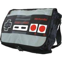 NINTENDO NES Reversible Messenger Bag - Black & Grey, Black