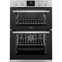 ZANUSSI ZOD35660XK Electric Double Oven - Black and Stainless Steel, Stainless Steel
