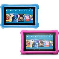 Amazon Fire 7 Kids Edition Tablets Bundle - 16 Gb, Blue & Pink, Blue