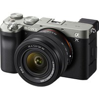 SONY a7 C Mirrorless Camera with FE 28-60 mm f/4-5.6 Lens - Silver, Silver.