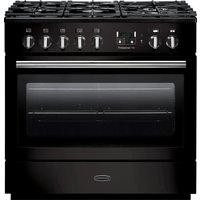 RANGEMASTER Professional FX 90 Dual Fuel Range Cooker - Gloss Black and Chrome, Black