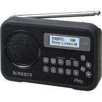 Roberts Play Portable Dab Radio - Black, Black