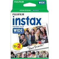 FUJIFILM P10GM13220A Instax Wide Film - Twin Pack, White.