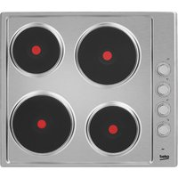 BEKO HIZE64101X Electric Solid Plate Hob - Stainless Steel, Stainless Steel