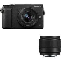 PANASONIC DMC-GX80EB-K Mirrorless Camera, 12-32 mm f/3.5-5.6 Lens & 25 mm f/1.7 Lens Bundle