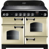 Rangemaster Classic 110 cm Electric Induction Range Cooker - Cream and Chrome, Cream