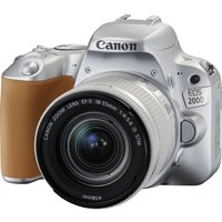CANON EOS 200D DSLR Camera with EF-S 18-55 mm f/4-5.6 DC Lens - Silver, Silver