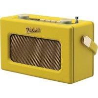 Roberts Revival Uno Retro Portable Clock Radio - Yellow, Yellow