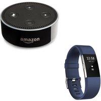 FITBIT Charge 2 & Echo Dot Bundle - Blue, Large, Blue