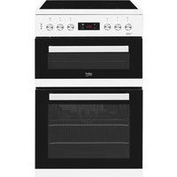 BEKO XDC653W 60 cm Electric Ceramic Cooker - Stainless Steel, White