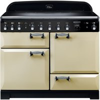 Rangemaster Elan Deluxe ELA110EICR 110 cm Electric Induction Range Cooker - Cream and Chrome, Cream