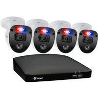 SWANN Enforcer SWDVK-446804SL-EU 4-Channel Full HD 1080p DVR Security System - 1 TB, 4 Cameras, Blue at Currys Electrical Store
