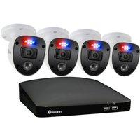 SWANN Enforcer SWDVK-446804SL-EU 4-Channel Full HD 1080p DVR Security System - 1 TB, 4 Cameras, Blue.