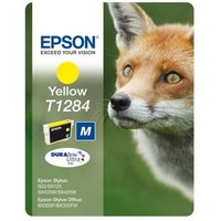EPSON Fox T1284 Yellow Ink Cartridge, Yellow