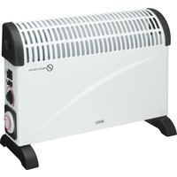 LOGIK L20CHTW18 Portable Hot and Cool Convector Heater - White and Black, White