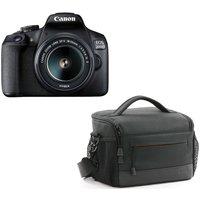 CANON EOS 2000D DSLR Camera, EF-S 18-55 mm f/3.5-5.6 IS II Lens & ES100 DSLR Camera Bag Bundle
