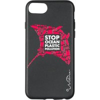 WILMA Stop Ocean Plastic Pollution Manta iPhone 6 / 6s / 7 / 8 / SE Case - Black & Red, Black
