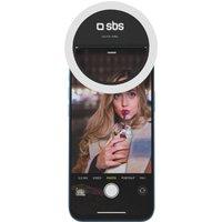 SBS Selfie Ring Light - White & Black, White
