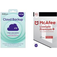 MCAFEE LiveSafe Premium (1 year for unlimited devices) & Currys Cloud Backup (4 TB, 1 year) Bundle