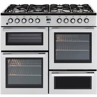 FLAVEL MLN10FRS Dual Fuel Range Cooker - Silver and Chrome, Silver