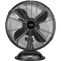 LOGIK L12DFGM17 12 Desk Fan - Gun Metal.